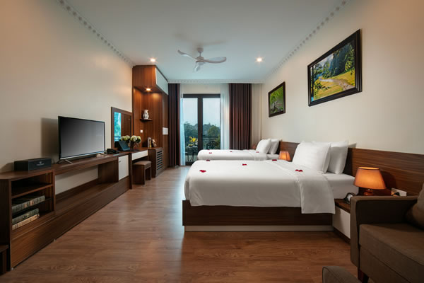 Deluxe Twin Room with Balcony & Mountain View
